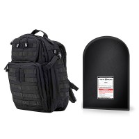 "5.11 Tactical RUSH 24 with 12 x 18"" Level IIIA Ballistic Shield (Black)"